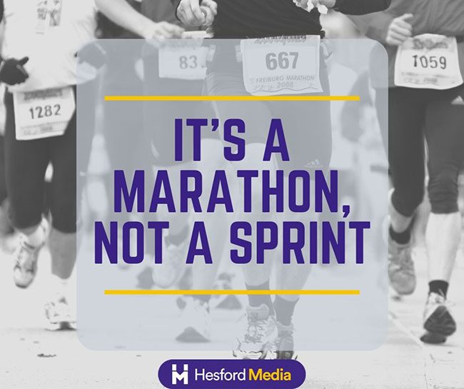 SEO is a marathon and not a sprint